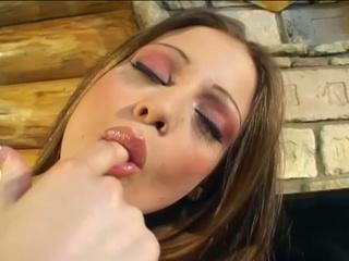 Hot beauty masturbates in front of piano