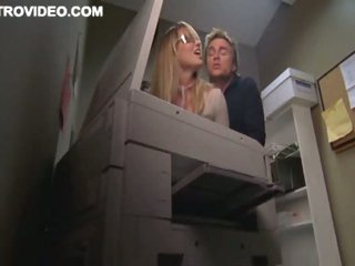 Blonde Bombshell Baelyn Neff Gets Banged Against The Copier