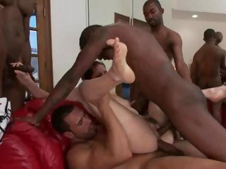 Bobbi Starr is double fucked by a hot group
