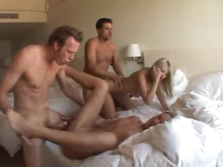 Hardcore foursome a big hotel room