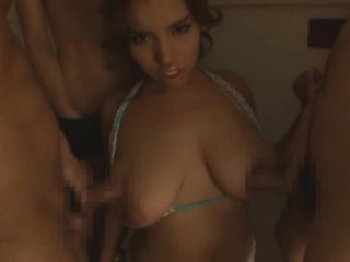 Naturally Busty Asian MILF Tina Gets Gangbanged and Facialized