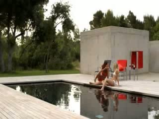Pool fun with extremely hot models