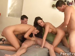 Three brunette have a good time sucking. fucking and taking cumshots! Kourtney Kane does her best to make guys explode as well as her horny friends. Every girl get cock and cumshot in this orgy!