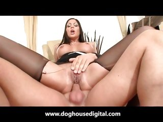 Angelica Heart riding a huge hard cock