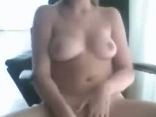 Breathtaking young dolly tests her new camera in a very dirty way. She sets it in front of her and starts wicked masturbation!
