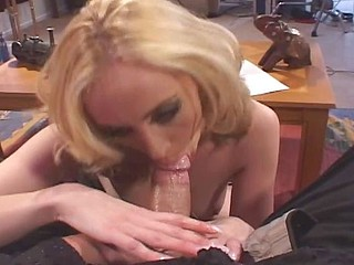 Blonde slut gets her ass pounded so hard that she tears up