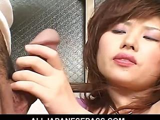 Horny MiLF masturbates and then eats dick