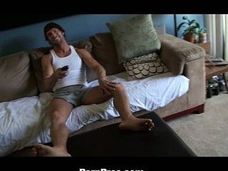 Kendall Karson is mantsy and wants a large rod to fill her gap. That Babe's out to bug her boyfriend, trying to get him to fuck her. All that guy wants to do is watch TV. When this babe shoves her kooch in his face, this guy quickly changes his tune.
