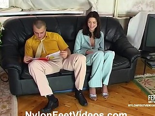 Amazing hose footjob bound to have fucking finale for awesome chick