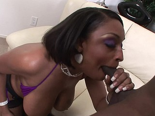 Ain't no crotch on 'em nylons, not at any time was... at no time will be! Carmen Hayes comes correct with that fur pie exposed so her stud can get his dick wet lickity-split! Rico appreciates the twat but it's her whoppers this chab makes a decision to spunk-up on this biatch!