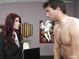 This hot brunette MILF cannot stop herself from reacting to the young guy sitting across from him. therefore, she moves in for the kill and soon enough she has him exactly where she wants. Unable to stop himself. Once she have her, he will do everything that she wants him to do and then some.