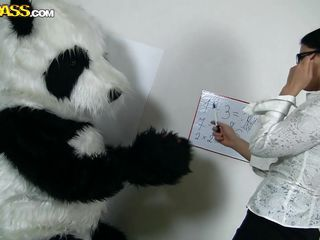 Panda's need education too but they need a good fuck even more! Luckily for this particularly panda his teacher is a hottie and horny too. The math lesson ends but the fucking one just begins as that sexy brunette takes off her panties and picks her favorite sex toy. Do you like math or would you rather see this