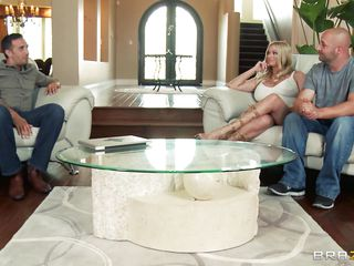 Briana Banks and her husband are offered a man for doing some action in front of a camera, as husband starts taking off his clothes he is told that the task have to be performed by professional. The big breasted milf agrees with him and likes to be fucked by professional. Her husband doesn't like this and goes out and then..