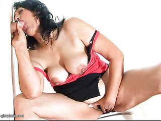 Bernice is a hot mature with long dark hair. In this movie, she gives an amazing blowjob through a hole in the wall to a big white cock. How long do you think that guy will hold his sperm and cum all over her pretty face?