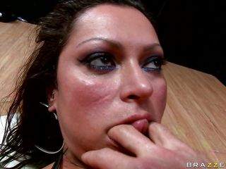 Because she was a very bad girl and sucked a lot of cocks, this guy fucks her big round booty nice and hard, grabbing her tits and neck as he drills her asshole. She loves to get slapped and fucked hard in the anus hoping that he will cum deep inside her butt. Watch this hot brunette with big tits and hot booty getting it..