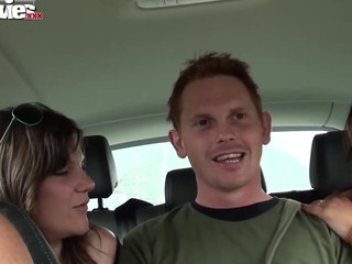 Vicky and Viola pick this stranded stranger up and after merely a small in number minutes they start engulfing stroking his dick. By the time that guy gets out of the car, this chab already fucked the cuties and came on 'em.
