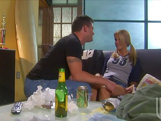 Playing Soccer Made Blonde Jessica Drake All Horny For Her Man's Cock