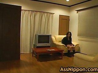 Riho Matsuoka sucking POV cock