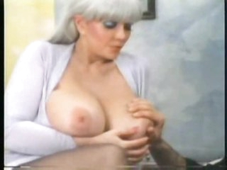 Retro foreplay porn with huge tits chick