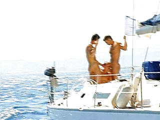 Hot dick swinging on a boat
