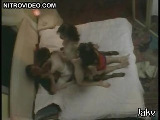 Cindy Lewis and her Hot Lesbian Friends In a Wild Softcore Orgy