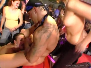 Vicious Sluts Take Thick Cumshots On Their Bodies At a Wild CFNM Party