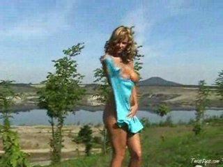 Zuzana nude in nature