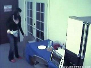 Caught on cam masturbating with fruit