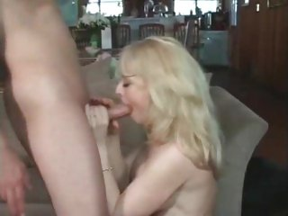 Rampant Nina Hartley gets pounded up her wet twat