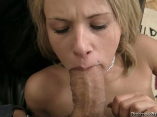 Rocco Siffredi ash new girl to have fun with. Lydia strips naked and swallows his big sized cock willingly. She sucks it and soon gets the pussy pounding of a lifetime.