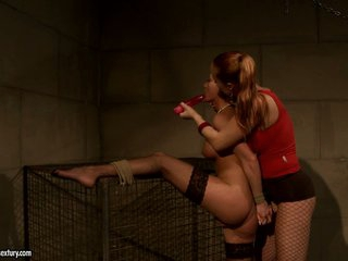 Katy Borman tie a hot babe tightly with rope