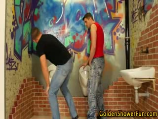 Golden shower mmf threesome