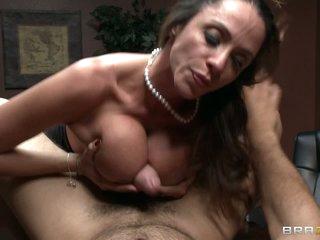 Office milf Ariella Ferrera gets her big breasts banged