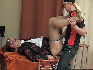 Horny gay sissy unzipping guy