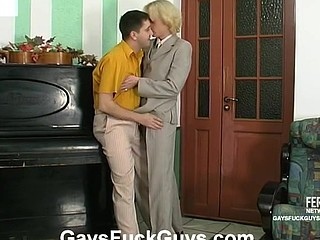 Desirous gay ally sharing his oral and wazoo-screwing skills with straight guy