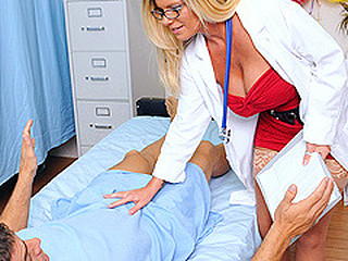 Ramon has accused Dr. Summers of taking advantage of him in the patient room earlier that day. That Babe is shown some damaging evidence: a surveillance camera has caught her fucking Ramon. That Babe is coercive to confess the shocking truth: that babe made Ramon fuck her, and that babe loved each second.