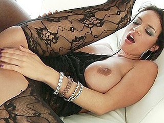 Franceska Jaimes was aching for some hard fucking and the hardest kind of sex we can think of is double penetration.  Francescka couldn't await to feel that large black pole in her pink whilst that babe watched that other dude sink his dong unfathomable in her gazoo, getting completely filled up.