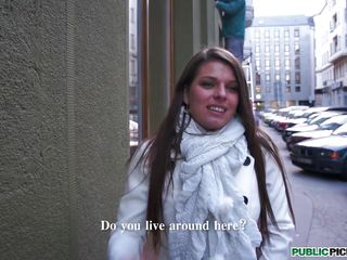 Beautiful young woman on the street meets a man in need of a tour guide.  The idea of earning some money interests her.  Somehow she just can't get away from the man with a camera.  It is clear in her eyes that the promise of easy money from making a candid video is pleasing.  Keep watching for her decision.