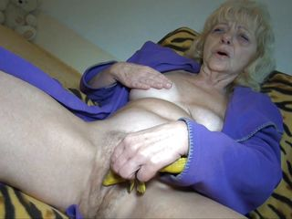 Hi there boys and girls, I'm Evan and as you can see I'm old enough to be your grandma. Being old is a bit different, you have all this pains and weird bowel movements but sometimes I get to feel good, and this is one of those moments. Using my special toy I rub my old pussy and then finger it, oh yeah