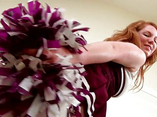 She's a natural beauty, big soft boobs, a pink pussy that's eager for cock and cum inside it and long red hair. Her name is Bree and she wants to show us what she has from mother nature. Relax and enjoy the show Bree gives us, in the end she's a cheerleader and that's what she knows best!