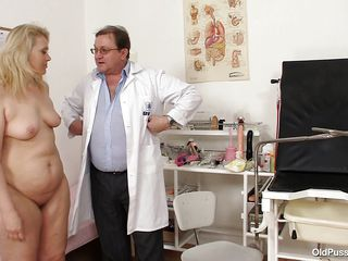 Yvonne is at gynecologist completely naked and waits for the doctor to examine her body. She's a bit chubby but that means there's a lot more to love as the doctor carefully and gently inserts a medical tool in her hot shaved anus and then he gapes her shaved vagina looking inside her pink pussy, that cunt is perfect for a..