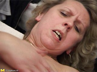 Watch this curly haired blonde lady Nolda getting a hardcore sex with this young guy with a Mohawk haircut. He keeps fucking this lady's hairy pussy with his cock and makes her scream with immense pleasure. Look at her face as she is getting fucked. She can't stop enjoying this and feels alive and young again!