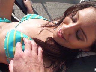 This Hottie is A class fucking material and she is showing off like a slutty model in swimsuit, She is getting her boobs pressed and her nice tight ass is moving here and there and she shows it off to get fucked real soon.