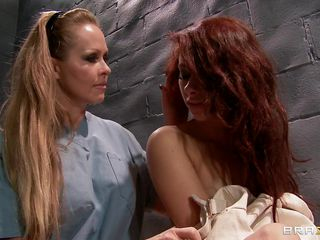Watch how a hot blonde gets of leash a crazy hot redhead babe and starts playing with her sexy tits and makes her horny. Look how mean is the blonde and how she fingers the patients tight cunt. Is that going to bring her some cock or spunk on their juicy lips?