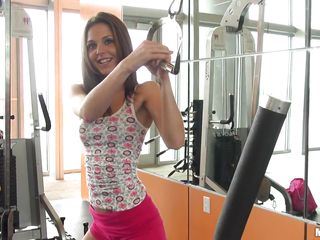 Kiera Winters is a freaky teen babe who's working out in the gym. She pulls something from her bag which works out a 'special' muscle of her body, though she can't do it there because of other people in the gym. Concerned with safety, she goes back to her place to have her secondary workout.