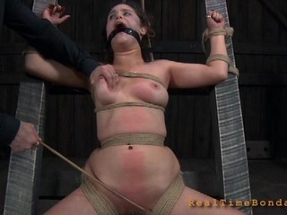 Brave beauty is getting vicious beating on her sexy arse
