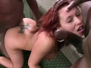 Gangbang and cumshots with Holly Berry