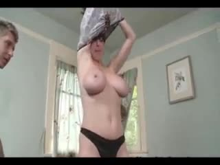 Milf in incredible dress takes his cock deep