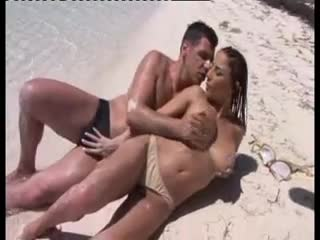 Sex on a beach with his incredibly hot lover