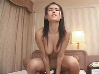 Chinese babe Maria Ozawa gets dicked deep in the pussy and a facial